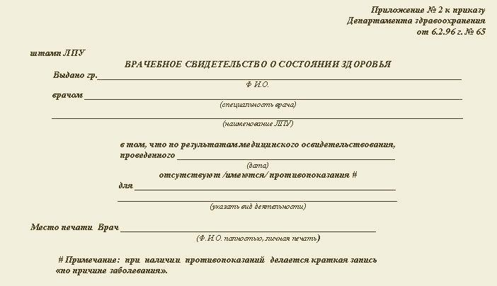 Медицинская справка формы 022 справка ф.095/у образец